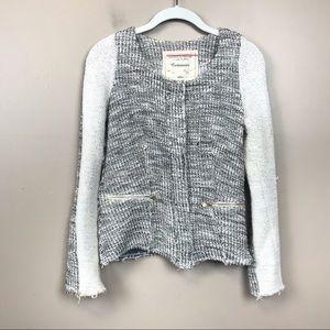 Anthropologie cartonnier  metallic tweed blazer xs